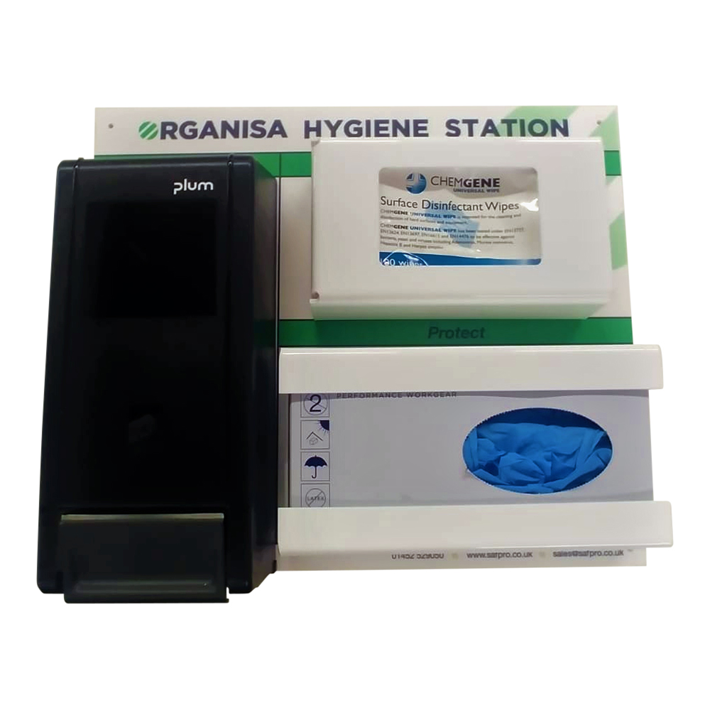 Organisa Hygiene Board With Dispenser Or Sanitiser Bottle