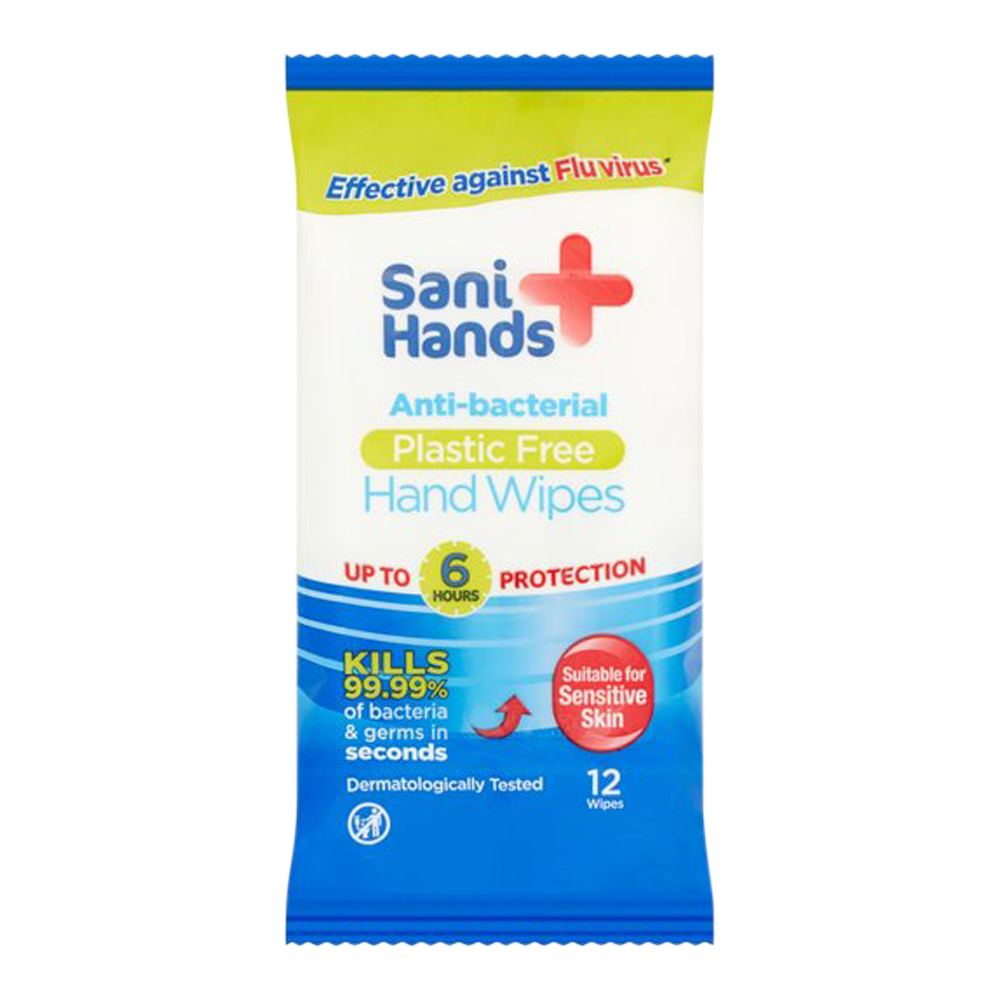 Anti Bacterial Hand Wipes Pack Of 12
