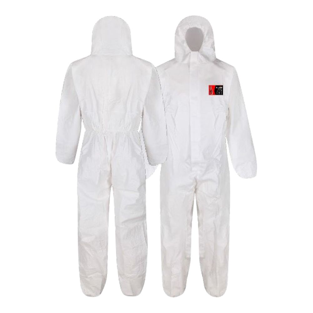 Laminated Microporous Type 5/6 Disposable Coverall – White
