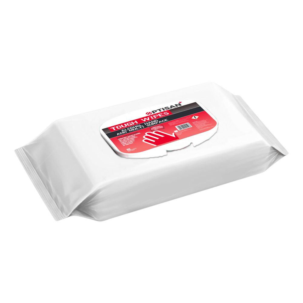 Optisan Alcohol Hand And Surface Wipe (Pack 50)