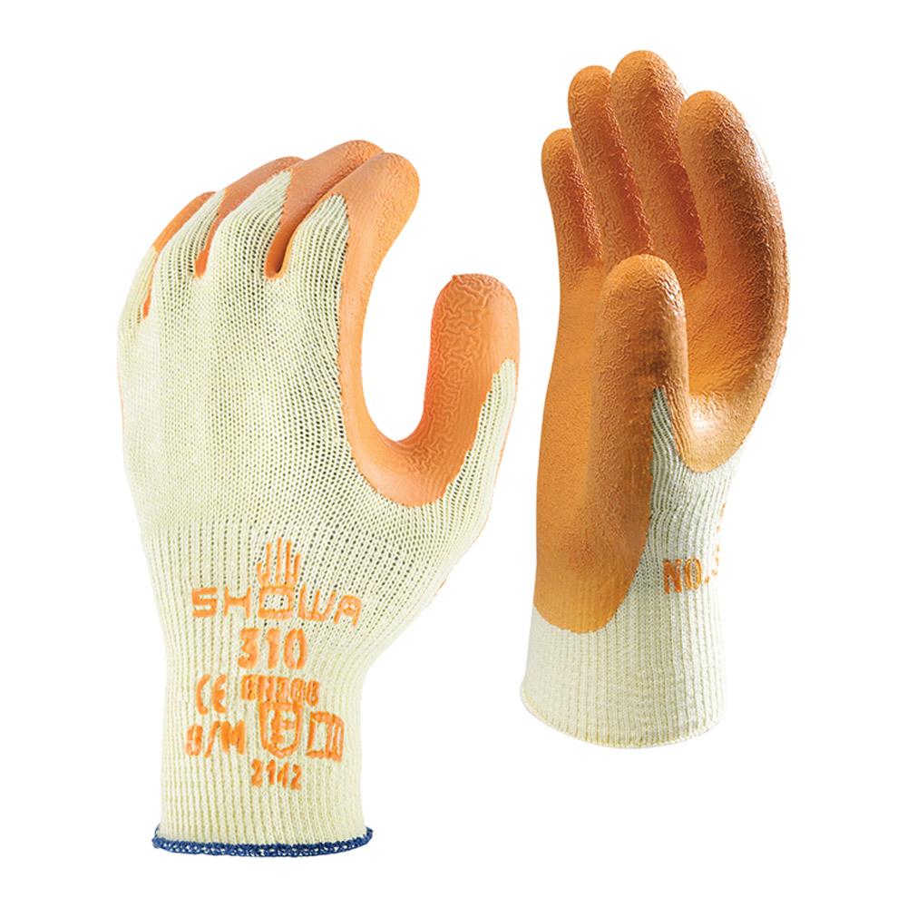 Orange Showa Grip Glove