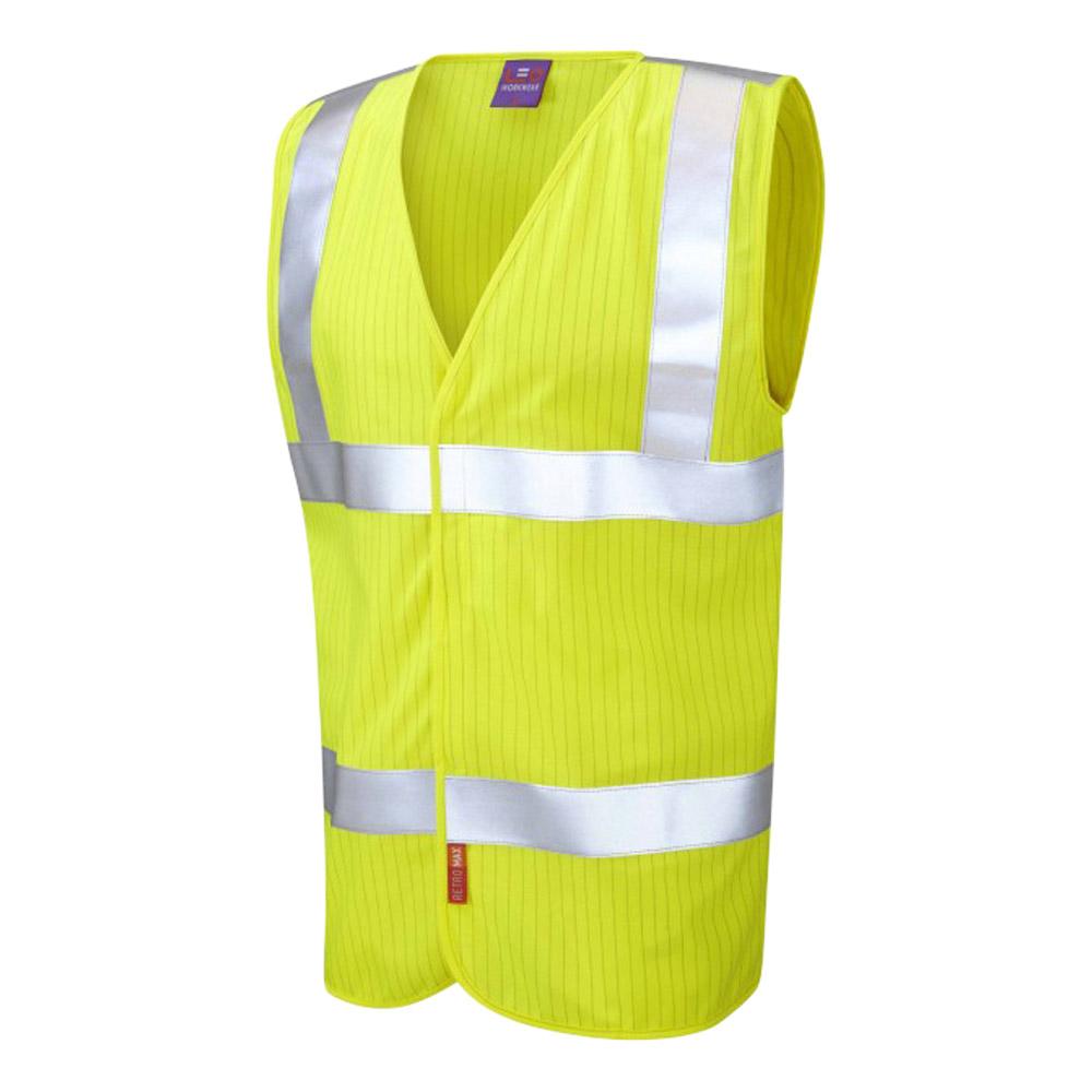 ISO 20471 Class 2 LFS Anti-Static Waistcoat Yellow