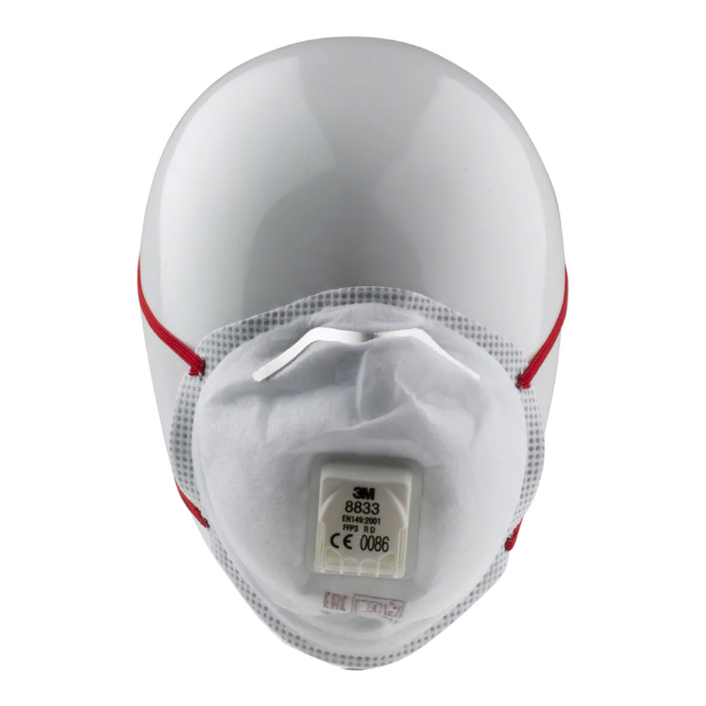 3M Aura 8833 Disposable Face Mask, FFP3, Valved