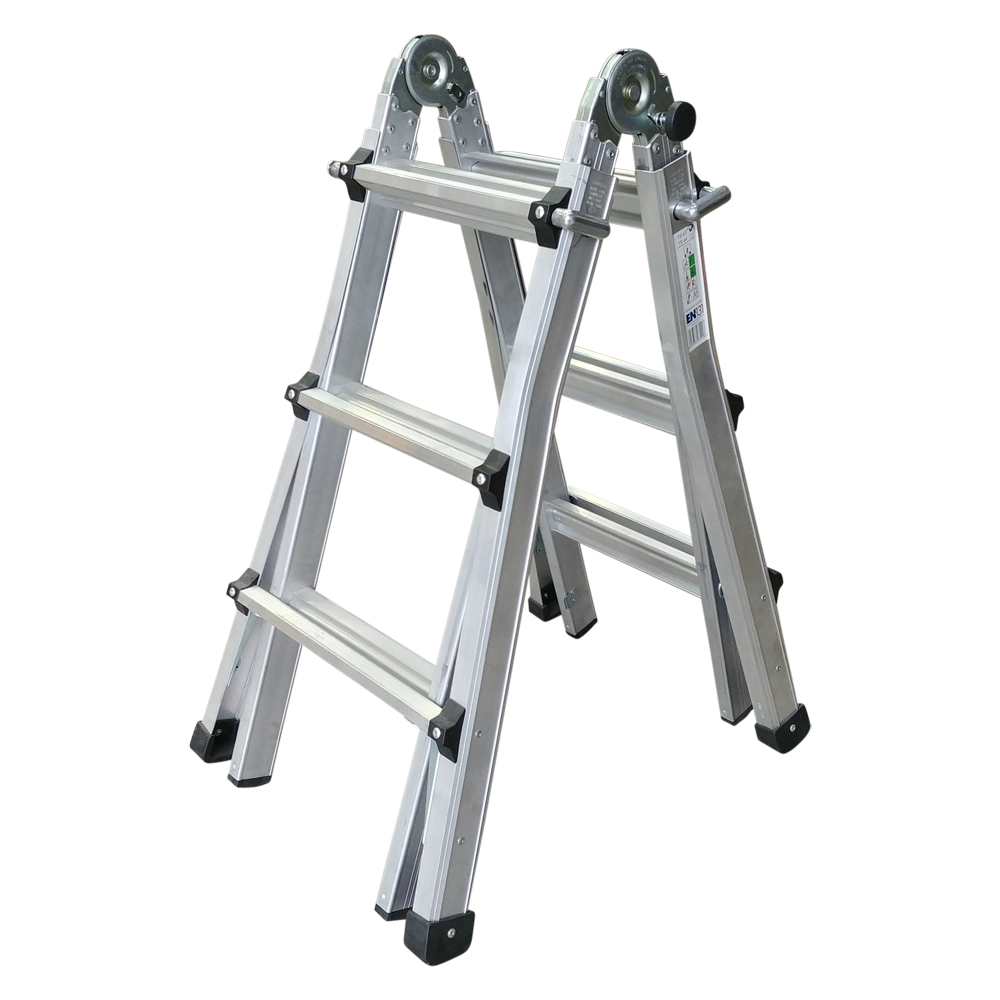 Aluminium Telescopic Combination Stepladder 3 Tread (1.6m)