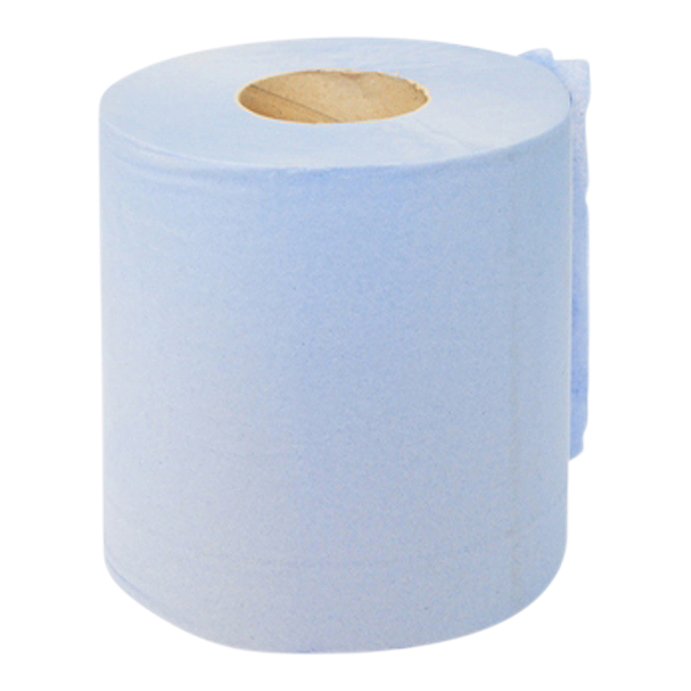 Blue 2 Ply Paper Roll (Case Of 6)