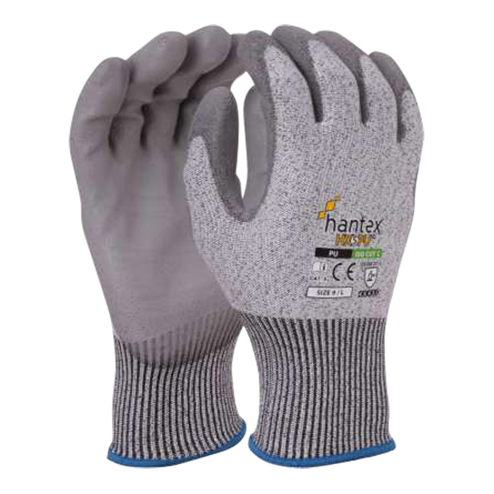 Hantex PU Coated Cut Level 5 Glove