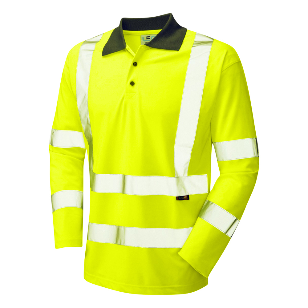 Hi-Vis Long Sleeve Poloshirt