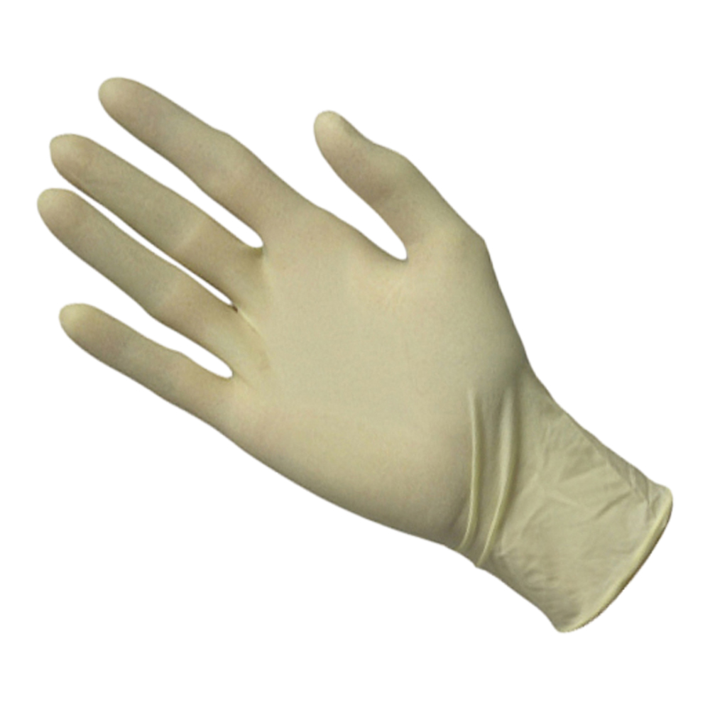 Latex Powdered Disposable Gloves (Box Of 100)