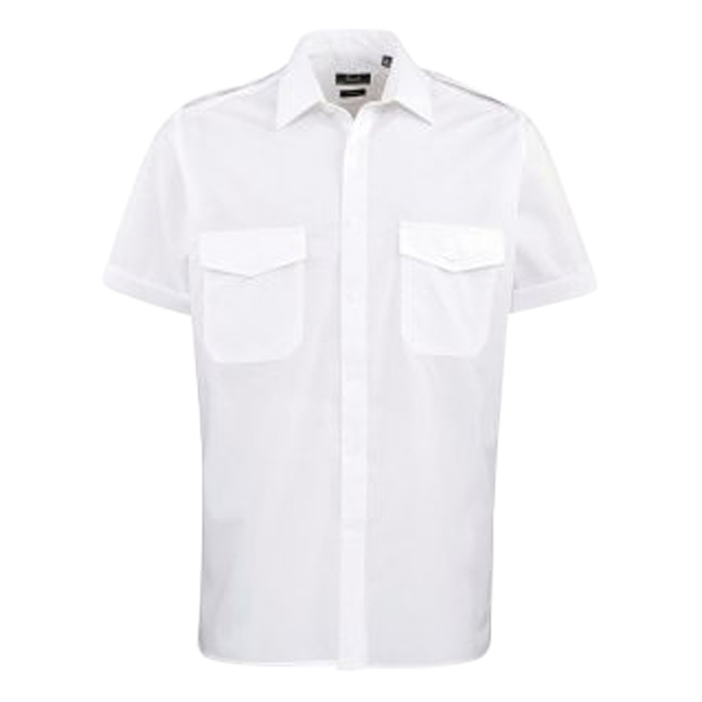Mens Short Sleeve Pilot Shirt