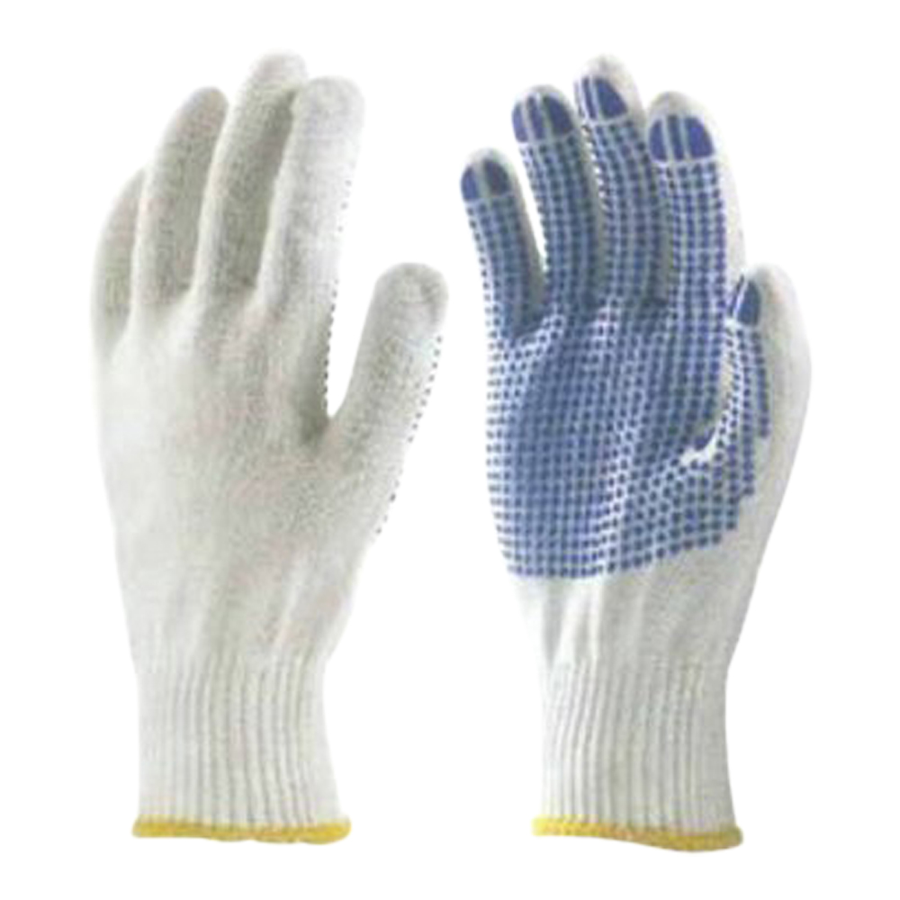 Nylon Seamless Dotted Glove