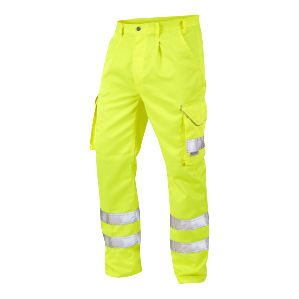 Onyx Hi-Vis Cargo Trouser With External Kneepad Pockets