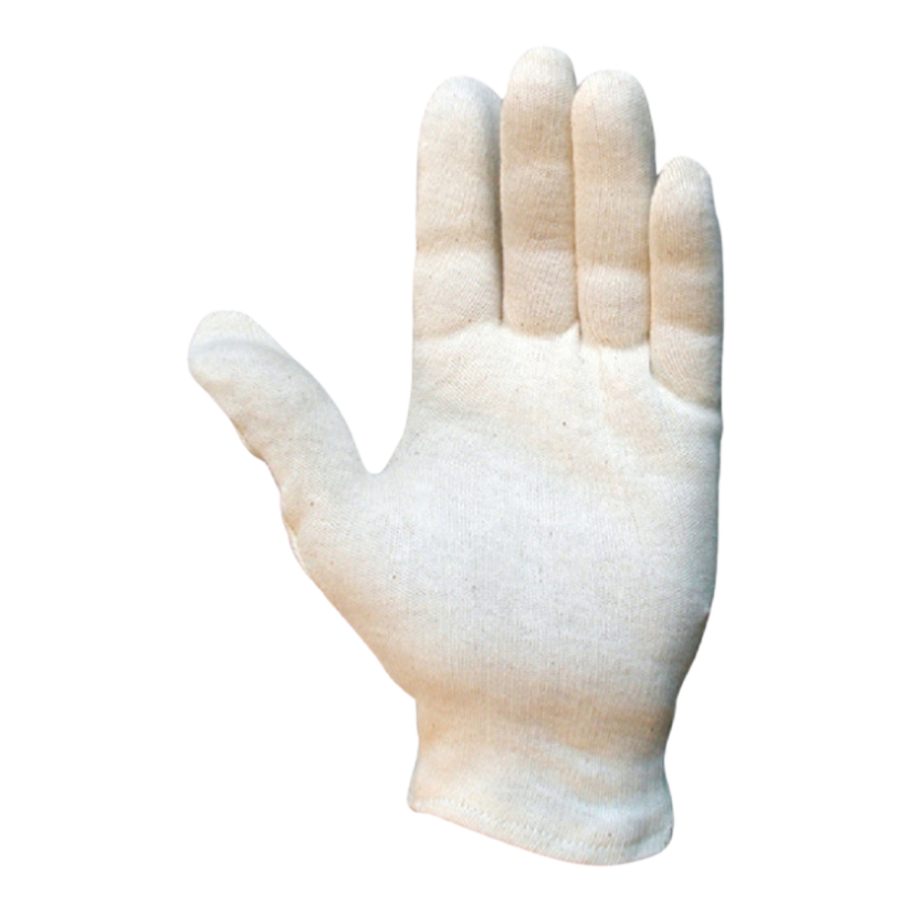 Open Liner Cuff Superior Bleached Cotton Glove (Mens)