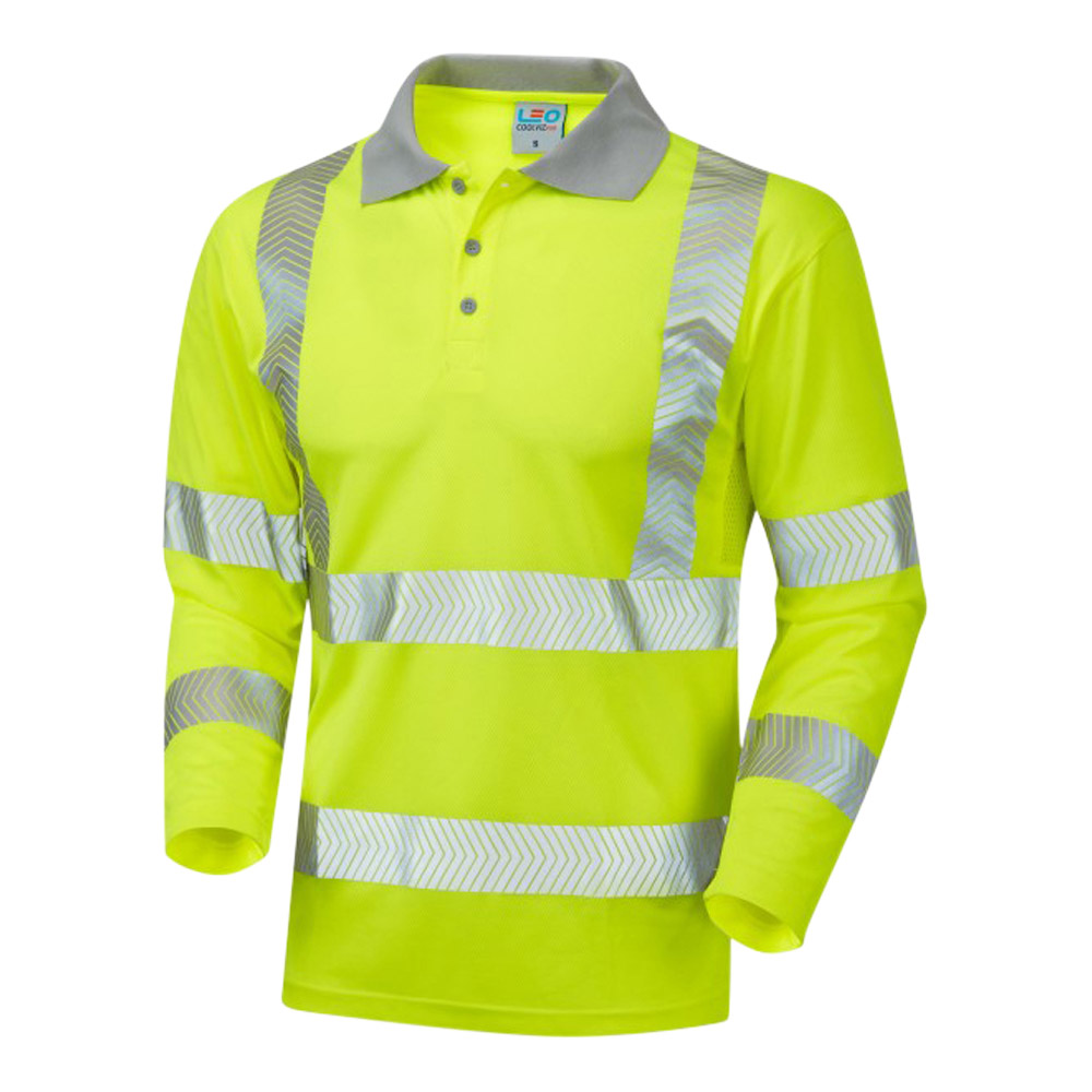 ISO 20471 Long Sleeved Polo Shirt (Sun Protection)