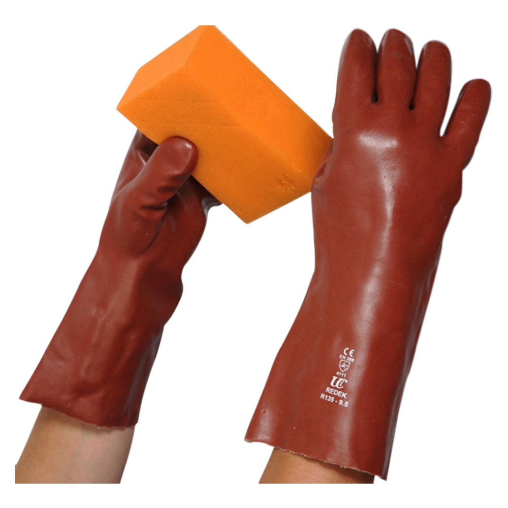 Red PVC Gauntlet (9.5 14″ Length)