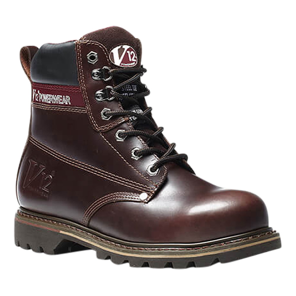 V12 Boulder Mahogany Derby Safety Boot